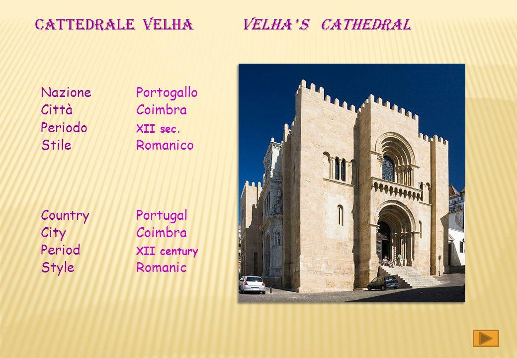 Nazione Portogallo Città Coimbra Periodo XII sec.
