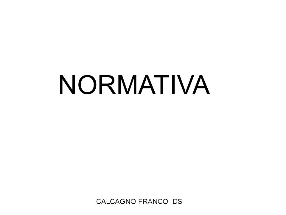 CALCAGNO FRANCO DS NORMATIVA