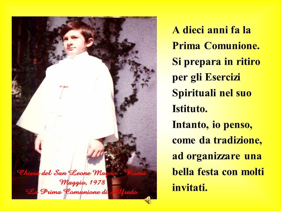 A dieci anni fa la Prima Comunione. Si prepara in ritiro per gli Esercizi Spirituali nel suo Istituto. Intanto, io penso, come da tradizione, ad organ