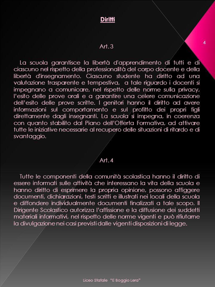 Liceo Statale E Boggio Lera 4 Diritti Art.