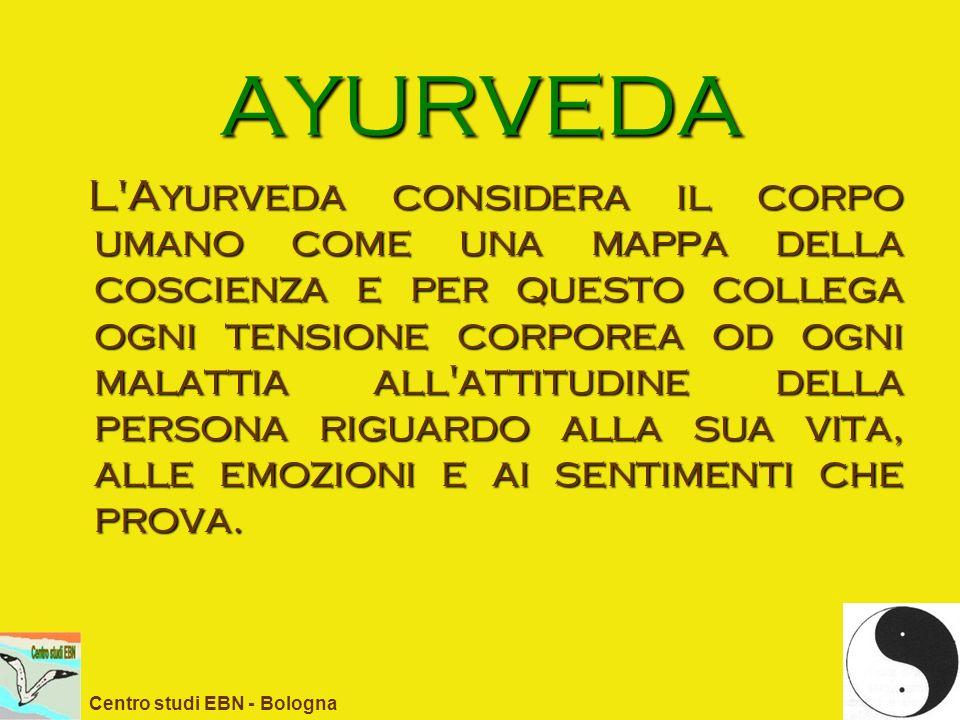 AYURVEDA L'Ayurveda considera il corpo umano come una mappa della coscienza e per questo collega ogni tensione corporea od ogni malattia all'attitudin