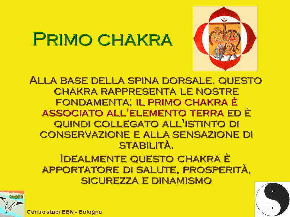 Primo chakra Alla base della spina dorsale, questo chakra rappresenta le nostre fondamenta; il primo chakra è associato all'elemento terra ed è quindi