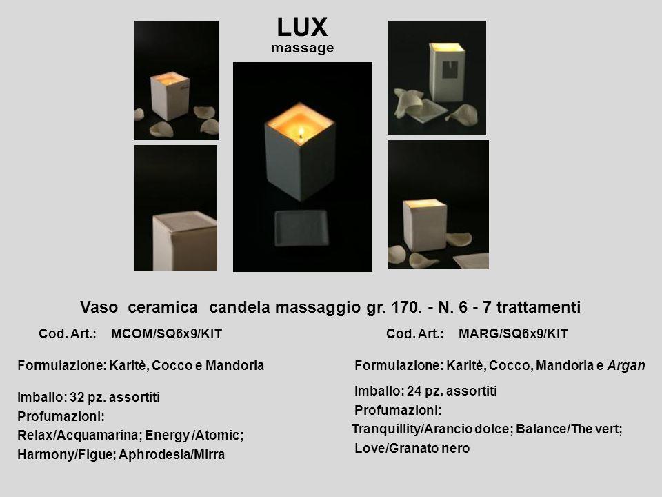 Vaso vetro candela massaggio gr.100. - N. 4 – 5 trattamenti.