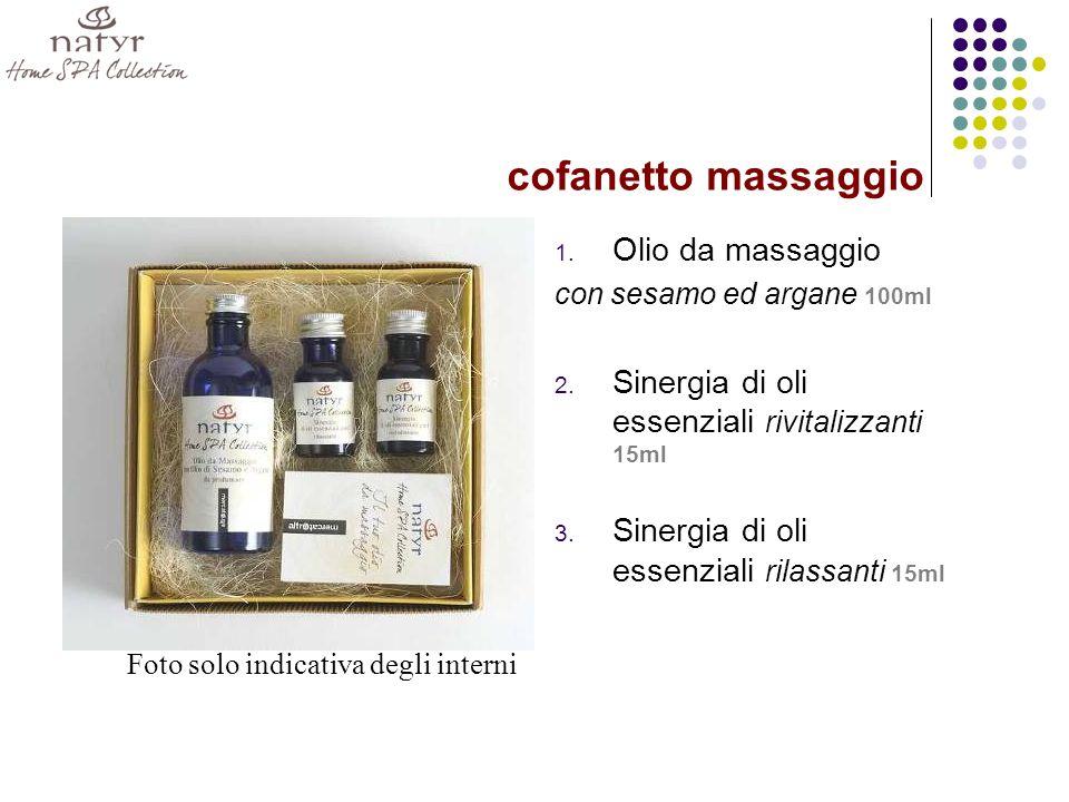 1.Olio da massaggio con sesamo ed argane 100ml 2.