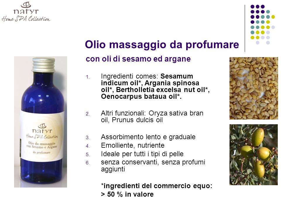 Olio massaggio da profumare con oli di sesamo ed argane 1.
