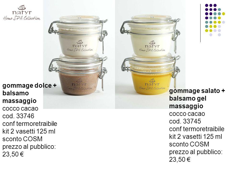 gommage dolce + balsamo massaggio cocco cacao cod.