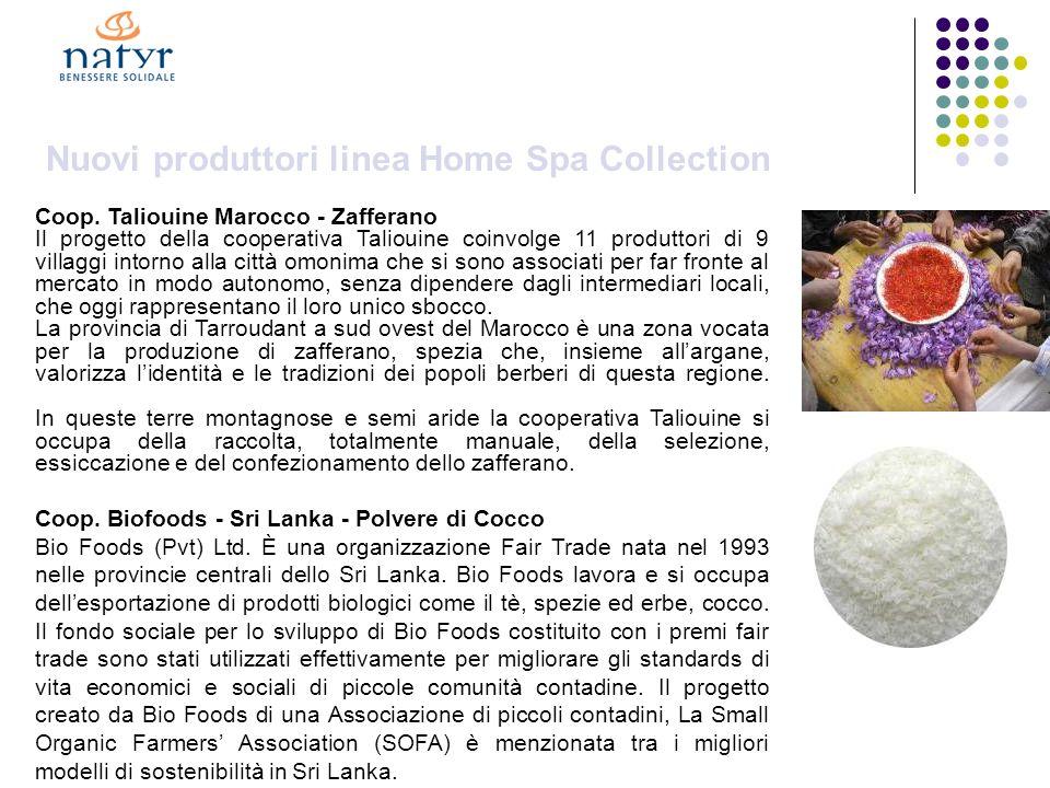 Nuovi produttori linea Home Spa Collection Coop.