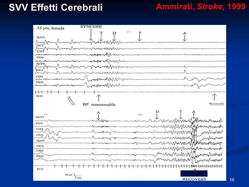 10 Ammirati, Stroke, 1999 SVV Effetti Cerebrali