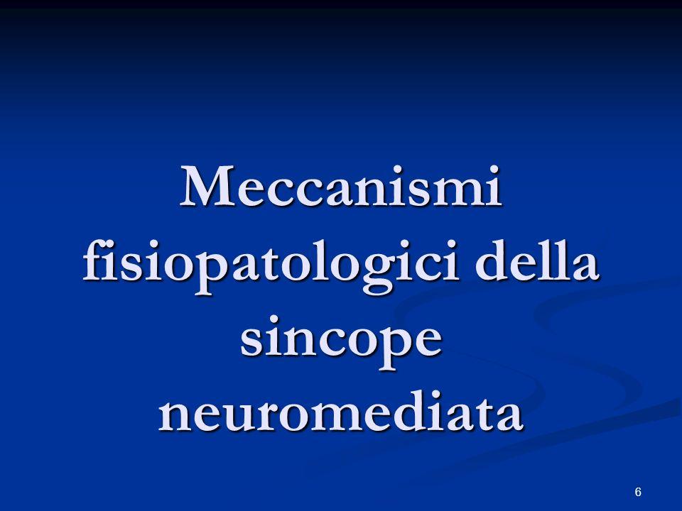 6 Meccanismi fisiopatologici della sincope neuromediata