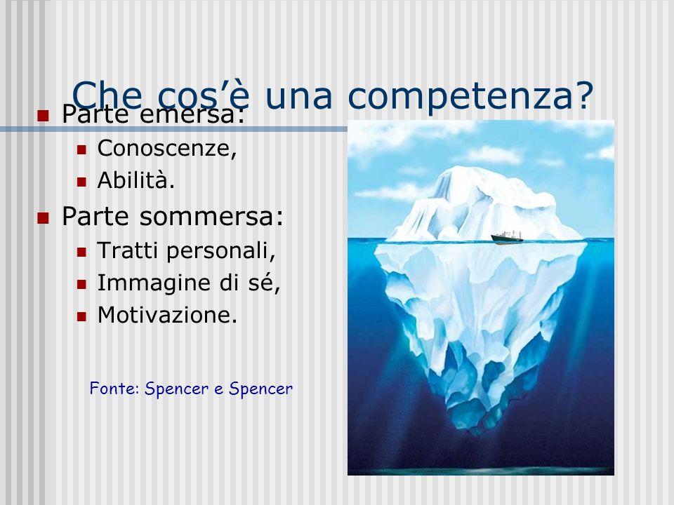 Competenza – Competenze Quali? Competenza: Riflettere sullesperienza; Descrivere lesperienza e tradurla in tracce personali; Attitudine a fare domande