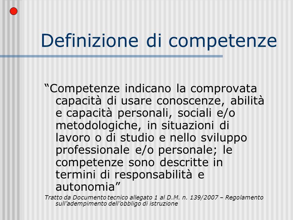 Nella competenza troviamo… COGNIZIONE METACOGNIZIONE MOTIVAZIONE contesto dazione in uno specifico contesto dazione. Dalla scuola della conoscenza all