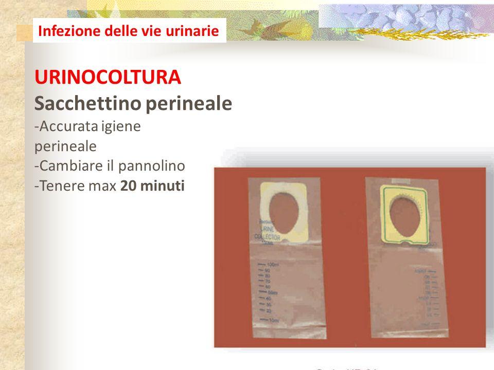 16 Infezione delle vie urinarie URINOCOLTURA Sacchettino perineale -Accurata igiene perineale -Cambiare il pannolino -Tenere max 20 minuti