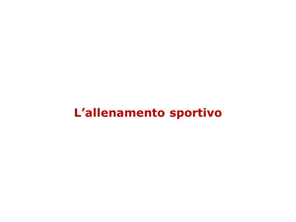La definizione Lallenamento sportivo è un processo sistematico mediante il quale si determinano dei cambiamenti nellorganismo che permettono di migliorare il livello di prestazione.