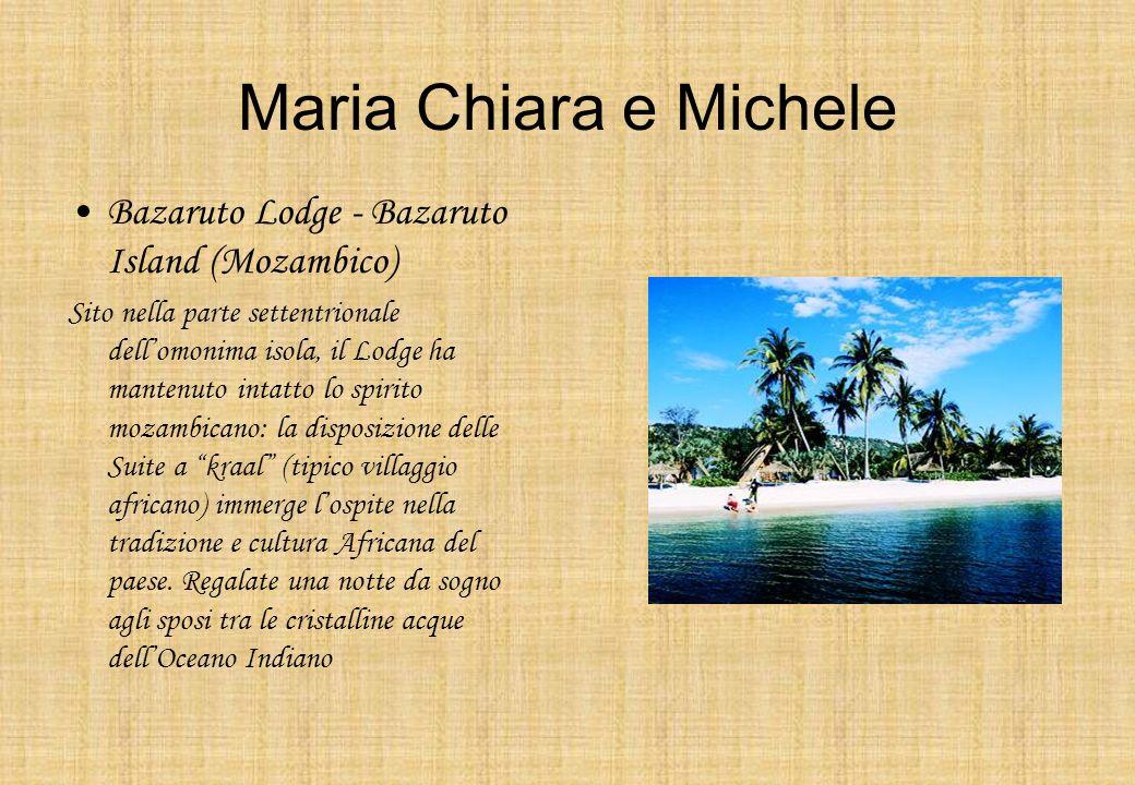 Maria Chiara e Michele Bazaruto Lodge - Bazaruto Island (Mozambico) Sito nella parte settentrionale dellomonima isola, il Lodge ha mantenuto intatto l