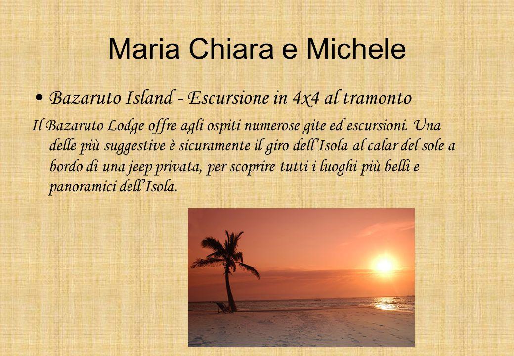 Maria Chiara e Michele Bazaruto Island - Escursione in 4x4 al tramonto Il Bazaruto Lodge offre agli ospiti numerose gite ed escursioni. Una delle più