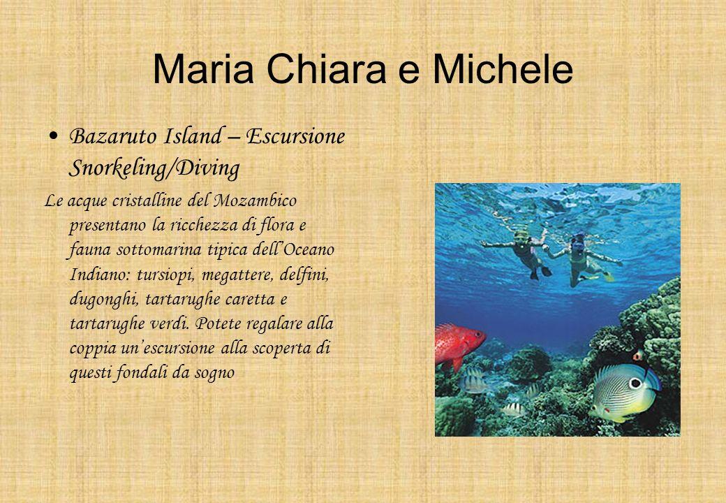 Maria Chiara e Michele Bazaruto Island – Escursione Snorkeling/Diving Le acque cristalline del Mozambico presentano la ricchezza di flora e fauna sott