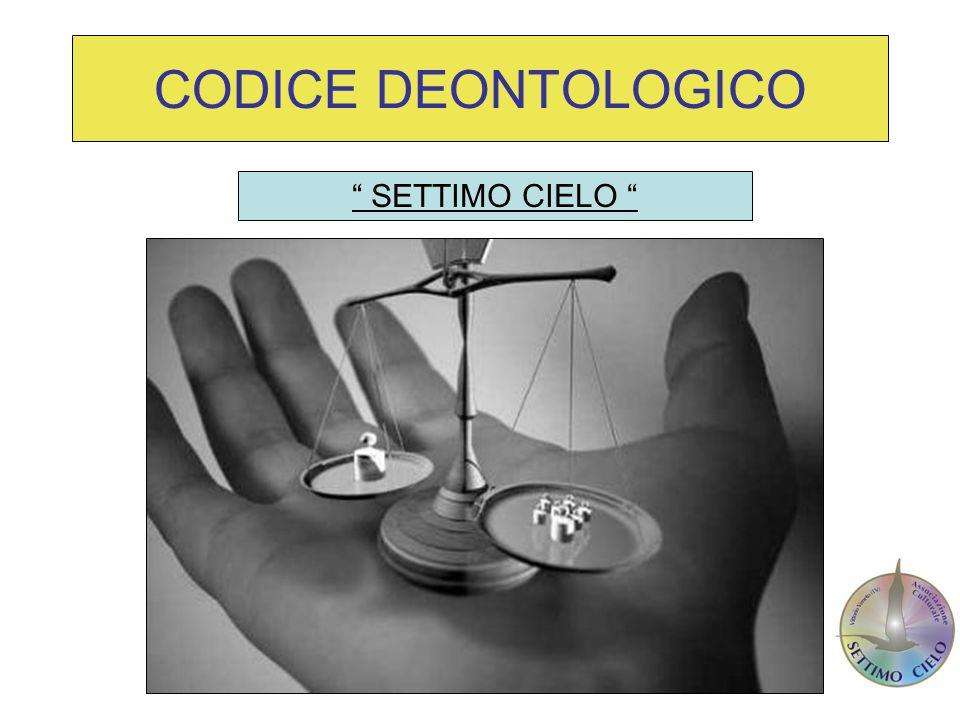 DUE PARTI ISTITUZIONALE PROMOZIONALE Il codice deontologico è un documento di grande rilevanza etica con valenza istituzionale e sociale.