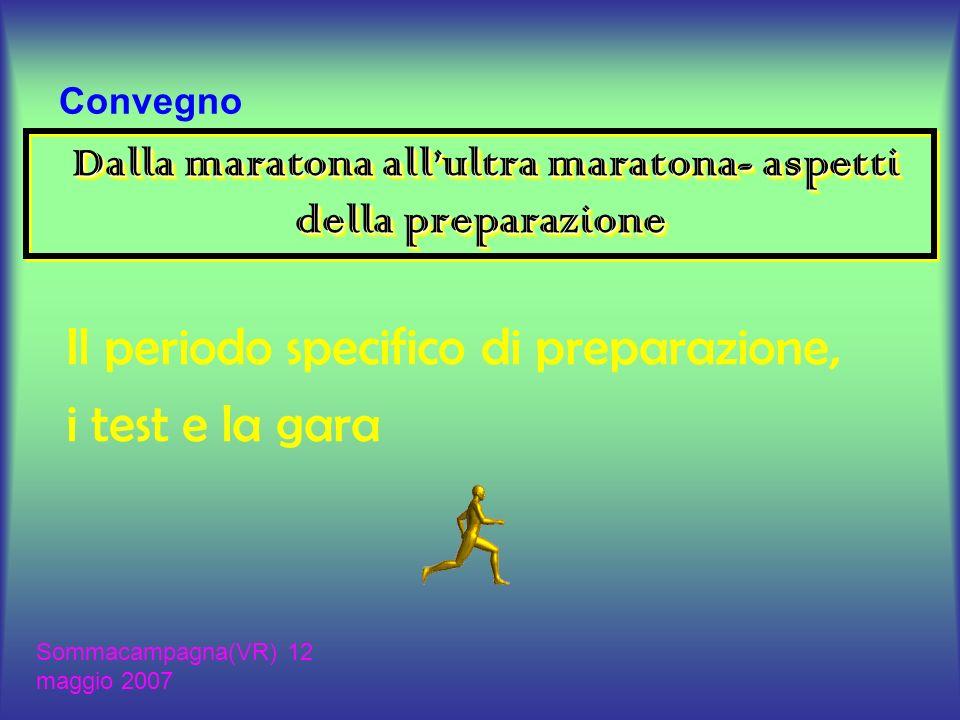 Dalla maratona allultra maratona- aspetti della preparazione Le grandezze essenziali del maratoneta Il periodo specifico di preparazione I mezzi di allenamento I Test