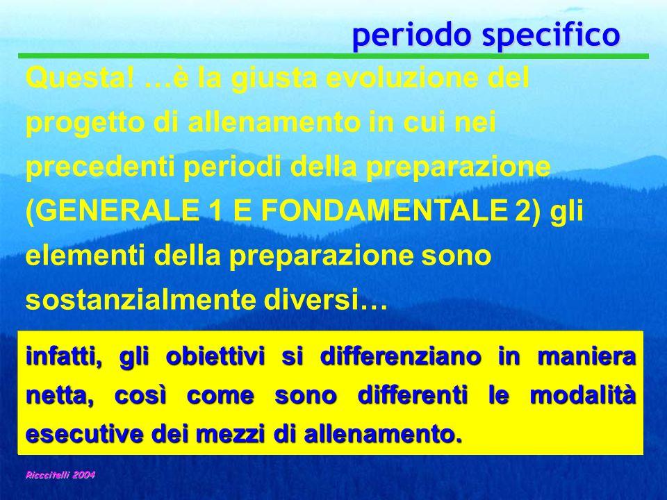 periodo specifico periodo specifico Ricccitelli 2004 infatti, gli obiettivi si differenziano in maniera netta, così come sono differenti le modalità e