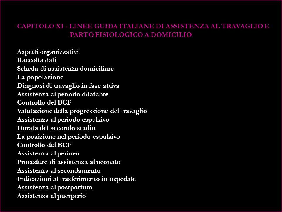 CAPITOLO IX - LA SELEZIONE OSTETRICA Programmazione del piano di assistenza ostetrica in Olanda Programmazione del piano di assistenza ostetrica in Italia Criteri assistenziali per le situazioni limite CAPITOLO X - INDICAZIONI OSTETRICHE PER LA VALUTAZIONE DEL RISCHIO (dal piano di assistenza ostetrica olandese) Indicazioni che risultano allanamnesi ostetrica Indicazioni che emergono durante il periodo prenatale Indicazioni che emergono durante il parto
