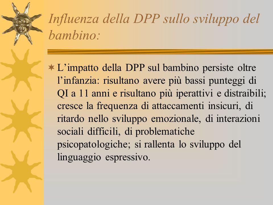 Influenza della DPP sullo sviluppo del bambino: Limpatto della DPP sul bambino persiste oltre linfanzia: risultano avere più bassi punteggi di QI a 11