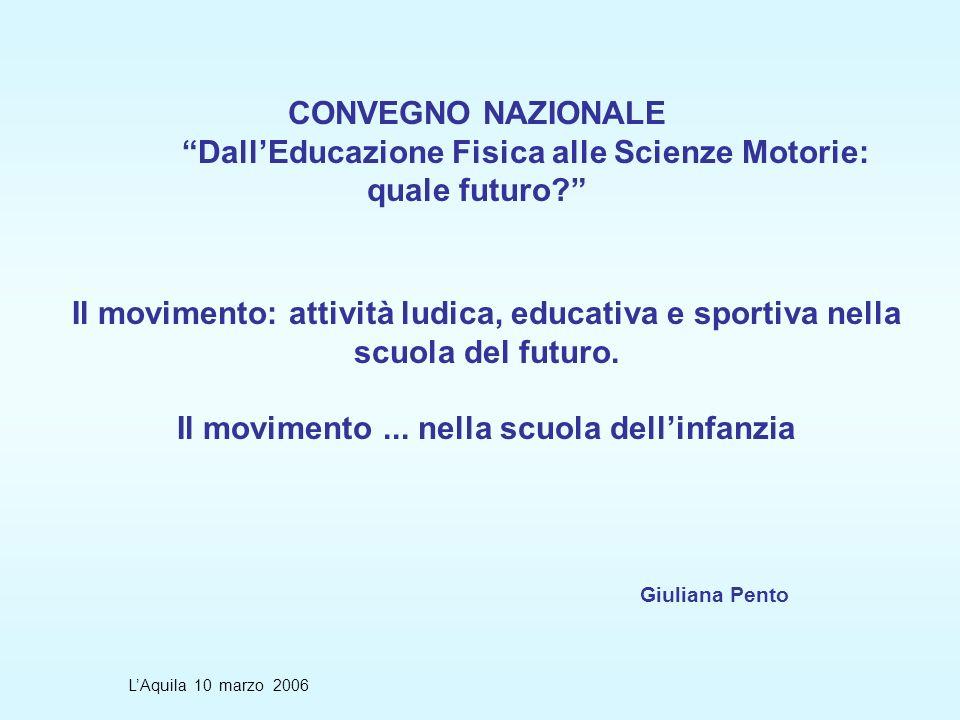Il movimento: attività ludica, educativa e sportiva nella scuola del futuro.