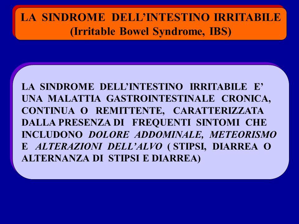 LA SINDROME DELLINTESTINO IRRITABILE (Irritable Bowel Syndrome, IBS) LA SINDROME DELLINTESTINO IRRITABILE (Irritable Bowel Syndrome, IBS) LA SINDROME