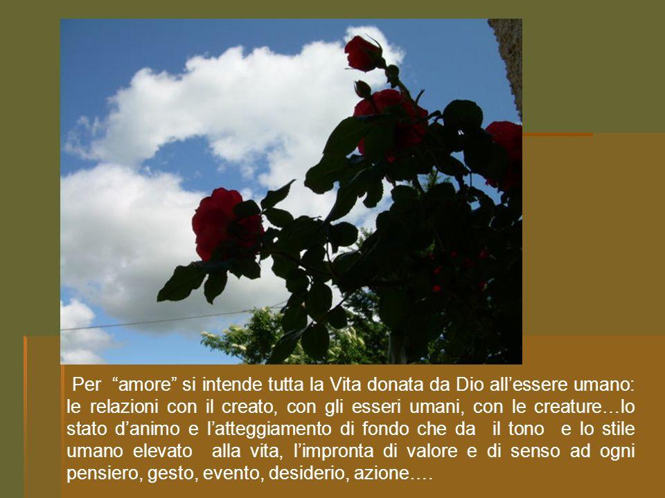 LAmore è dono di Dio agli esseri umani, è espressione della benedizione divina creatrice.
