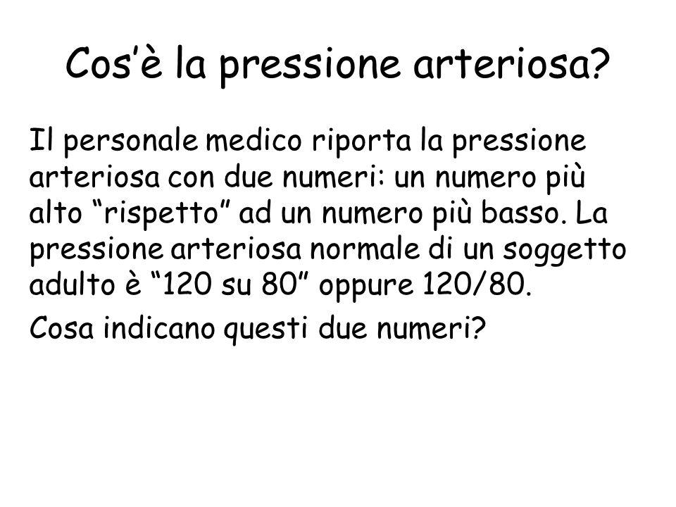 Cosè la pressione arteriosa? La pressione arteriosa è la forza esercitata dal sangue quando spinge contro le pareti delle arterie. Questa forza è magg