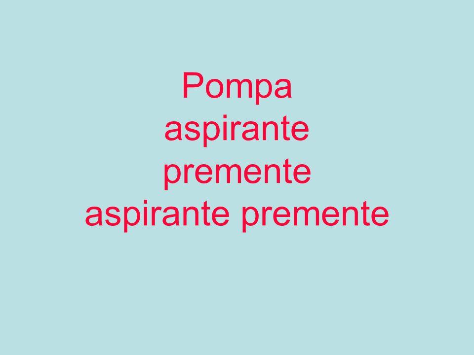 Pompe aspirante- premente –aspirante premente