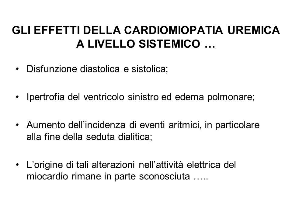 GLI EFFETTI DELLA CARDIOMIOPATIA UREMICA A LIVELLO SISTEMICO … Disfunzione diastolica e sistolica; Ipertrofia del ventricolo sinistro ed edema polmona