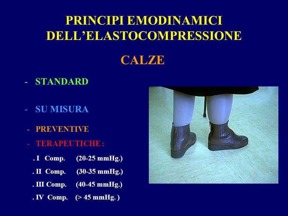 PRINCIPI EMODINAMICI DELLELASTOCOMPRESSIONE CALZE -STANDARD -SU MISURA - PREVENTIVE - TERAPEUTICHE :.