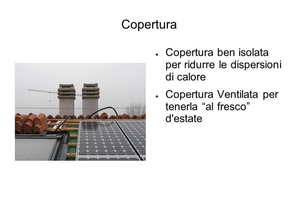 Copertura Copertura ben isolata per ridurre le dispersioni di calore Copertura Ventilata per tenerla al fresco d'estate