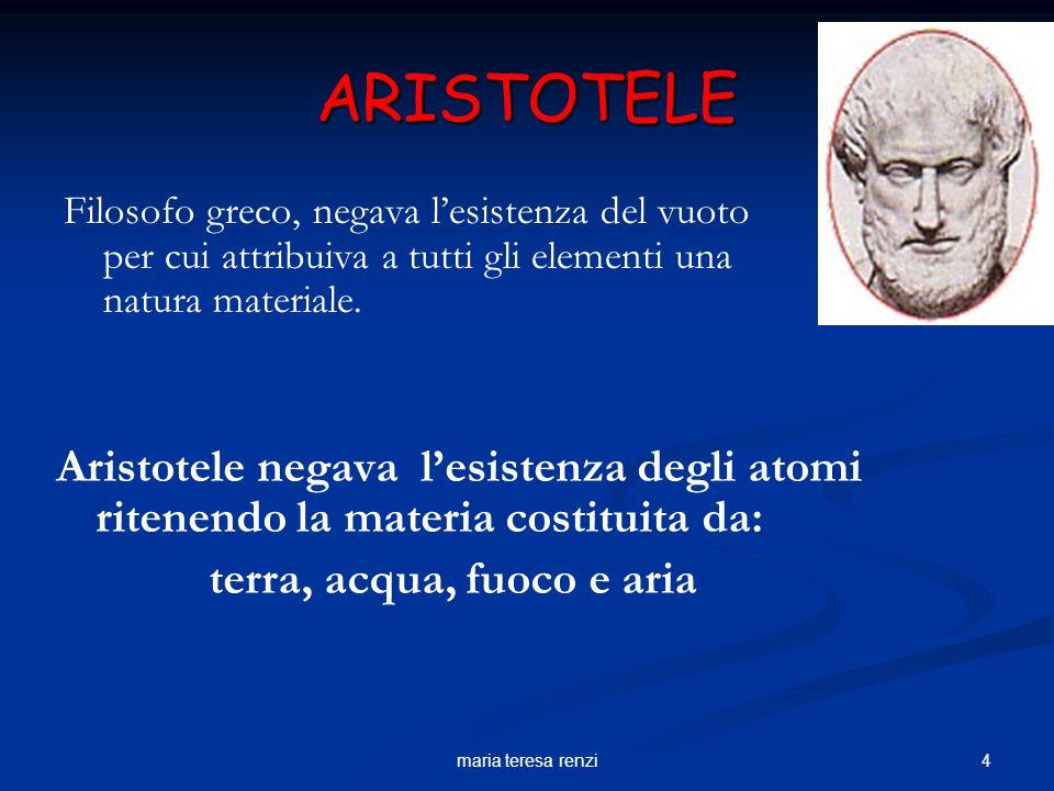 3maria teresa renzi DEMOCRITO Filosofo greco (460 – 370 a.C.). Con democrito nasce la teoria atomica della materia. Intuisce che la materia è formata