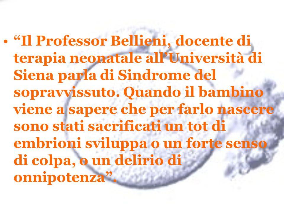 Il Professor Bellieni, docente di terapia neonatale allUniversità di Siena parla di Sindrome del sopravvissuto. Quando il bambino viene a sapere che p