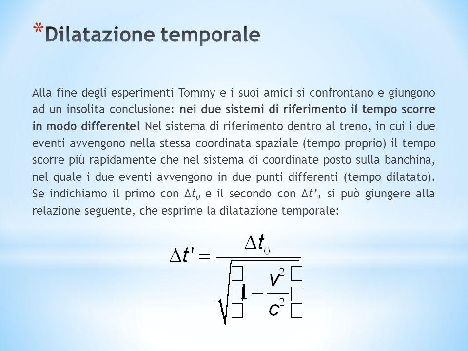 Alla fine degli esperimenti Tommy e i suoi amici si confrontano e giungono ad un insolita conclusione: nei due sistemi di riferimento il tempo scorre in modo differente.