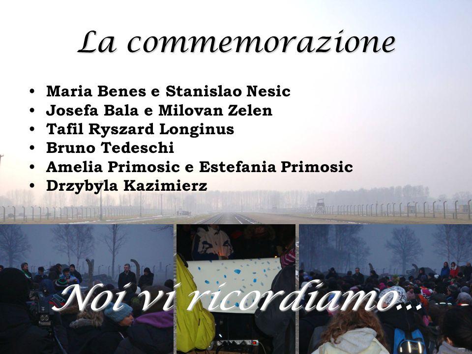 La commemorazione Maria Benes e Stanislao Nesic Josefa Bala e Milovan Zelen Tafil Ryszard Longinus Bruno Tedeschi Amelia Primosic e Estefania Primosic