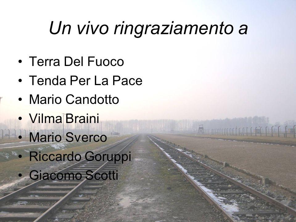 Un vivo ringraziamento a Terra Del Fuoco Tenda Per La Pace Mario Candotto Vilma Braini Mario Sverco Riccardo Goruppi Giacomo Scotti