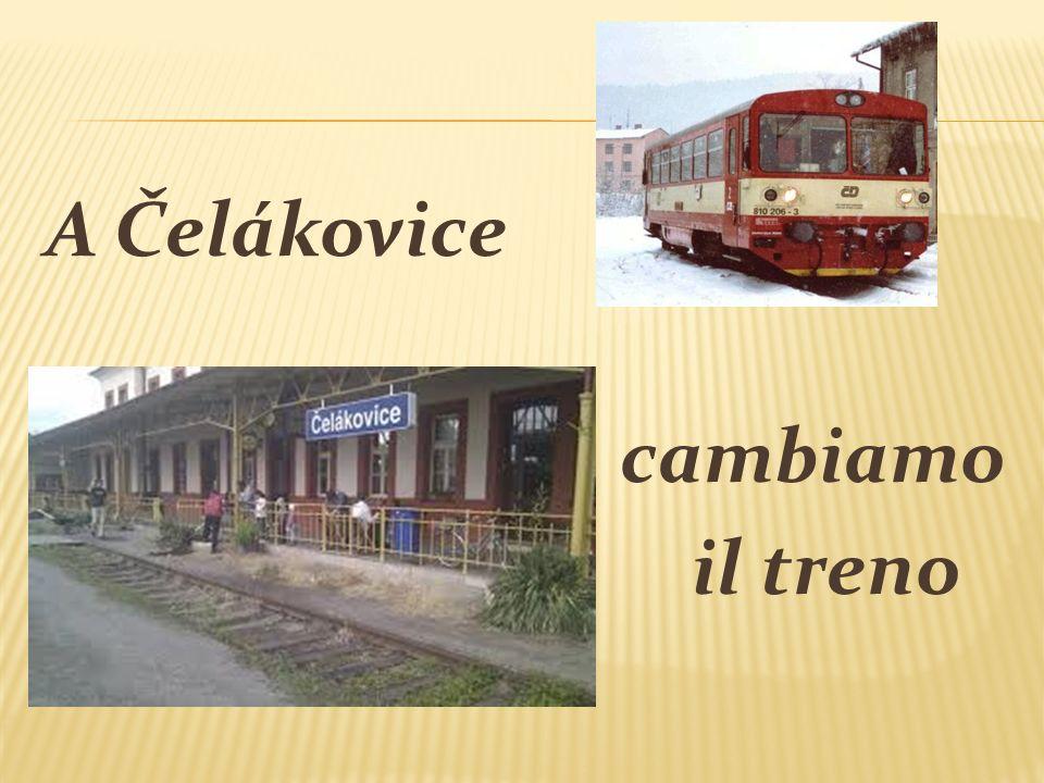 A Čelákovice cambiamo il treno