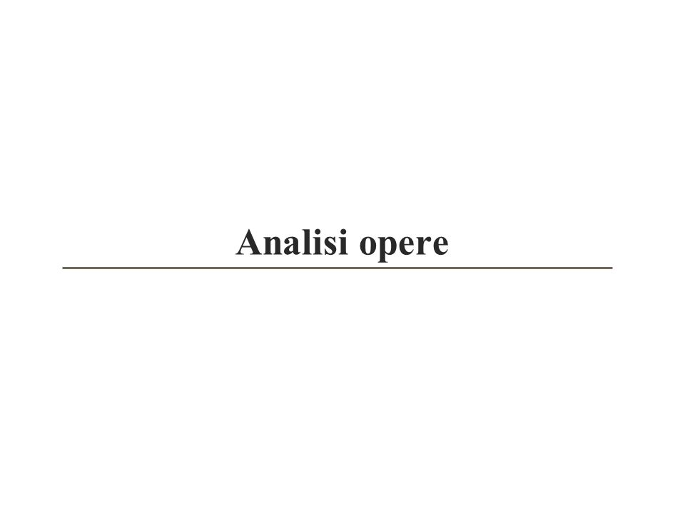 Analisi opere