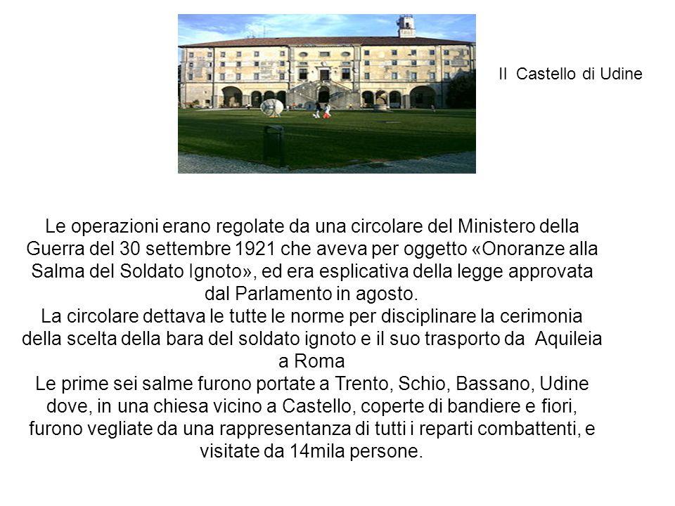 Il Castello di Gorizia e S.Spirito Queste bare, dopo che se ne era aggiunta una settima, proveniente dal Cadore, furono trasferite a Gorizia, in una chiesa sottostante il Castello.