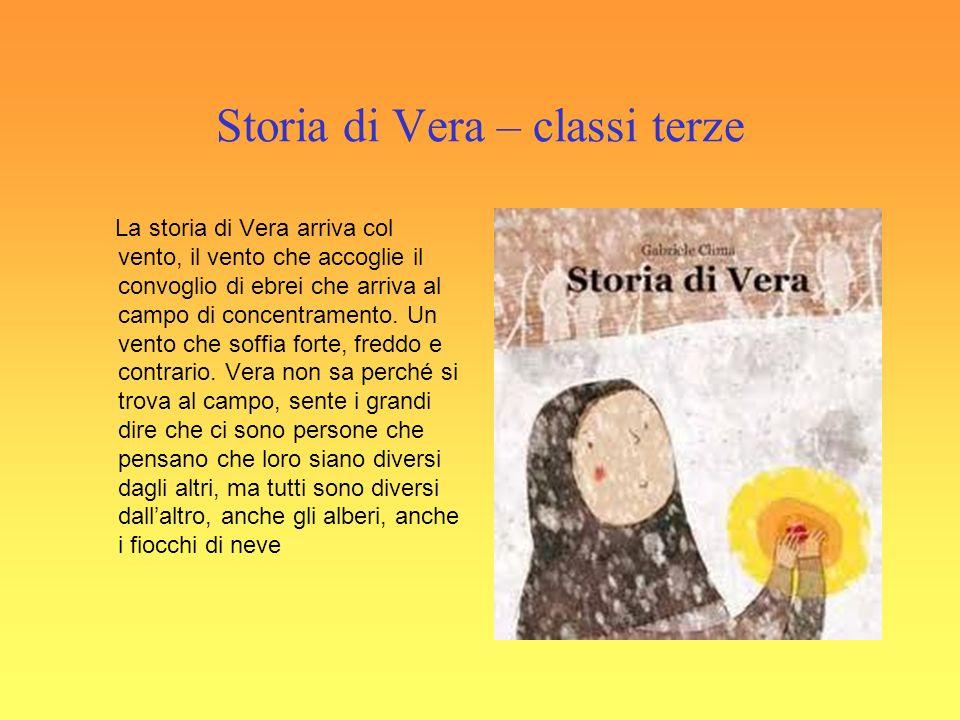 Storia di Vera – classi terze La storia di Vera arriva col vento, il vento che accoglie il convoglio di ebrei che arriva al campo di concentramento.