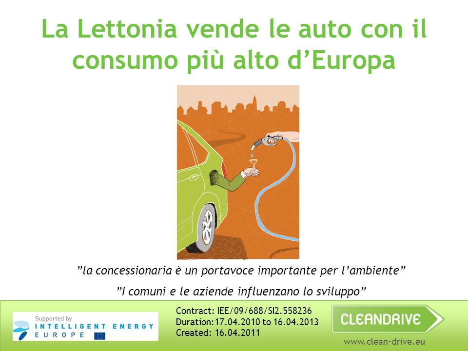 www.clean-drive.eu La Lettonia vende le auto con il consumo più alto dEuropa la concessionaria è un portavoce importante per lambiente I comuni e le a