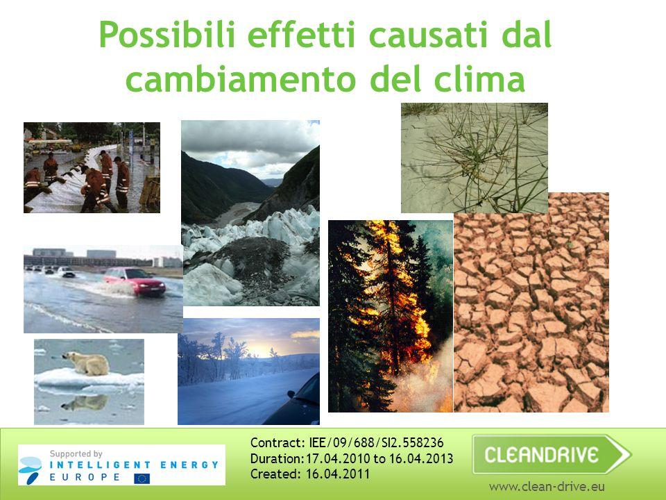 www.clean-drive.eu Sviluppo sostenibile – non si tratta solo di clima.