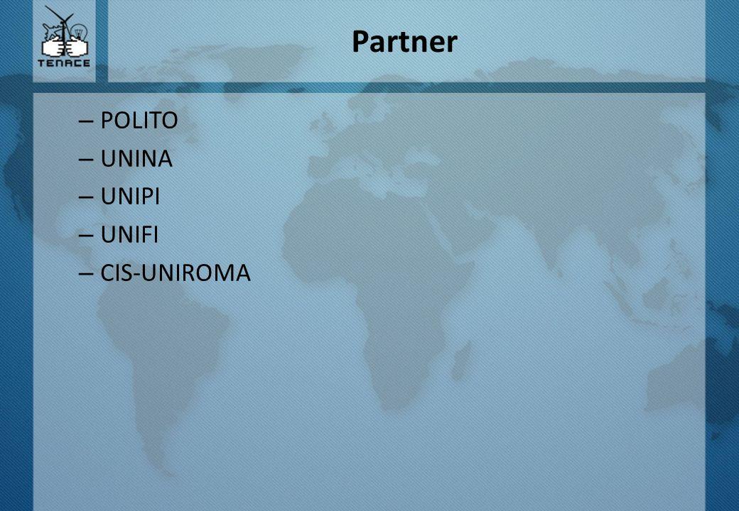 Partner – POLITO – UNINA – UNIPI – UNIFI – CIS-UNIROMA