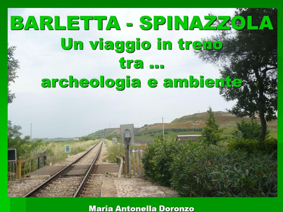 BARLETTA - SPINAZZOLA Un viaggio in treno tra … archeologia e ambiente Maria Antonella Doronzo
