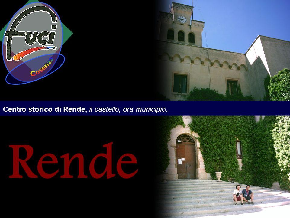 Centro storico di Rende, il castello, ora municipio. Rende