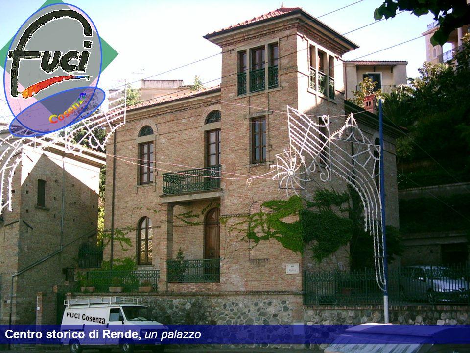 Centro storico di Rende, un palazzo