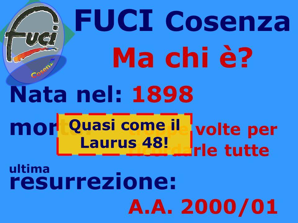 FUCI Cosenza Ma chi è.