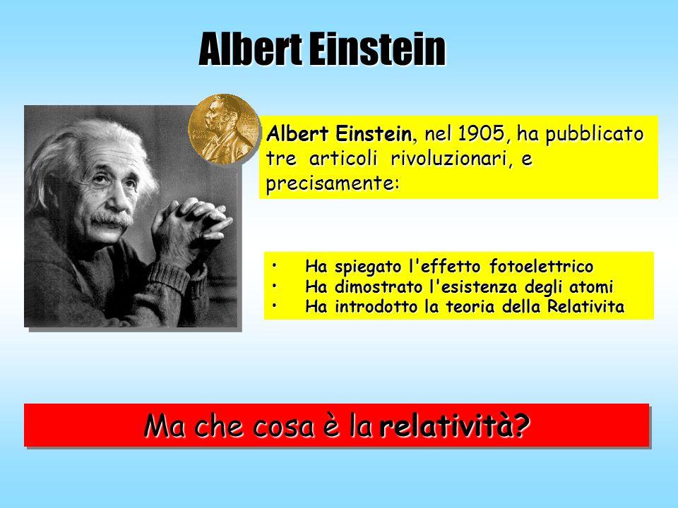 Albert Einstein Albert Einstein, nel 1905, ha pubblicato tre articoli rivoluzionari, e precisamente: Ha spiegato l'effetto fotoelettricoHa spiegato l'